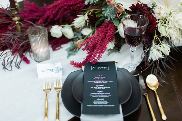 Gothic Glam Fall Wedding Ideas - photo by Gaudium Photography http://ruffledblog.com/gothic-glam-fall-wedding-ideas