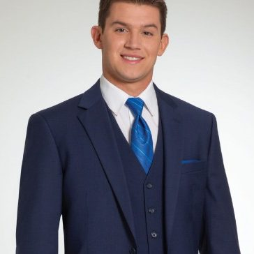 Three-Piece Navy Suit