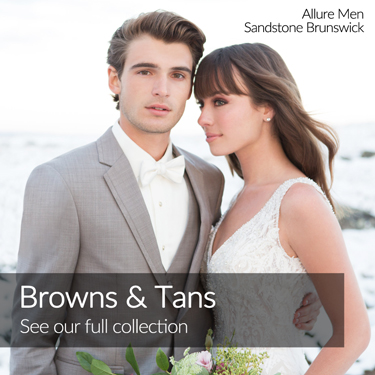 Brown Tan Sandstone Brunswick Allure Men Tuxedo Home Page