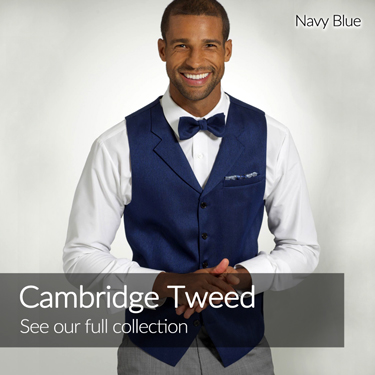Navy blue - Cambridge tweed - See our full collection