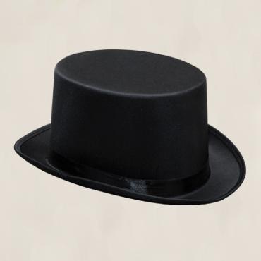 HTOPBLK - Black satin sash. Sizes M & L