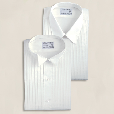 Wing Collar-SH116, Laydown Collar-SH470, Both: 1/4 Pleat Blend, Sizes: SM-4X