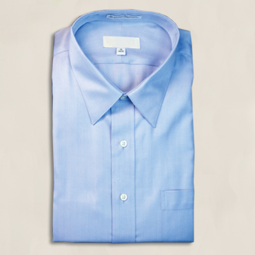 SH490BLU, Laydown Collar w/ Pocket, Poly-Cotton Blend, Sizes: SM-4X