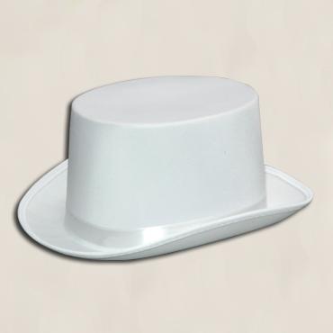 HTOPWHT - White satin sash. Sizes M & L
