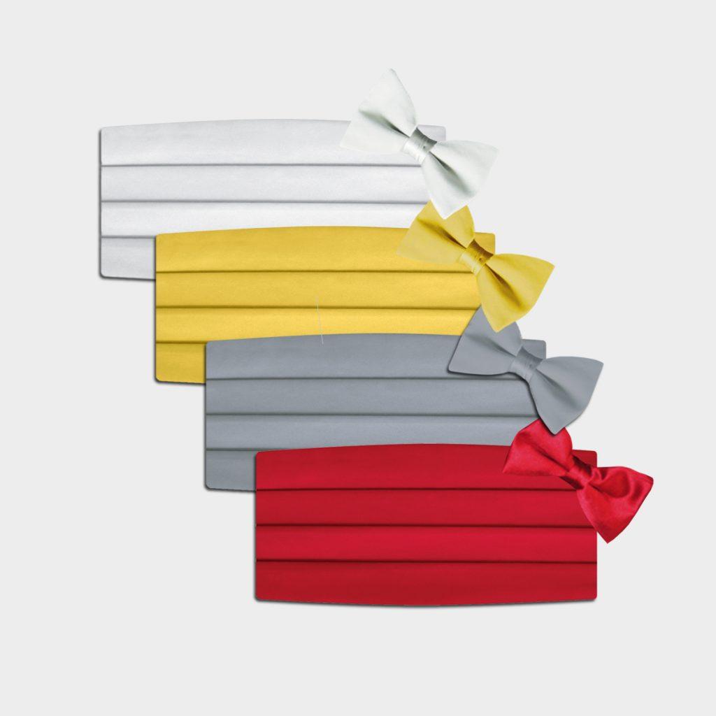 Cummerbund Bow Tie Sets