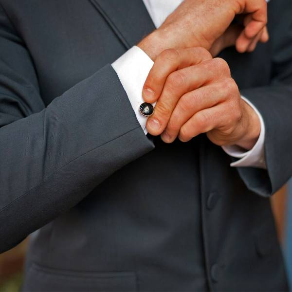 Grey Tuxedo Cuff