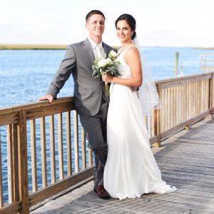 Wedding couple at Dock