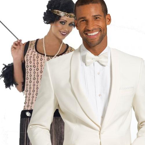 White Great Gatsby Tuxedo Jacket