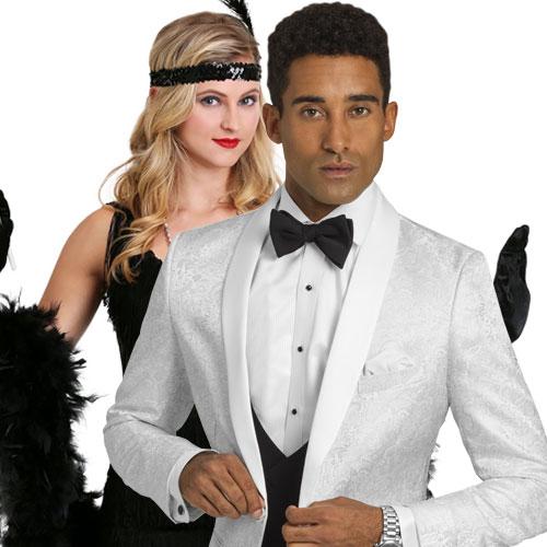 white great gatsby tuxedo