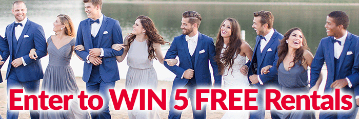 5 Free Wedding Suit & Tuxedo Rentals